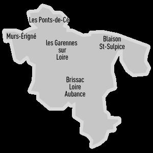 Canton Ponts-de-Cé - Détail découpage